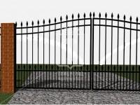 Сварные ворота с пиками (Арт. 087)