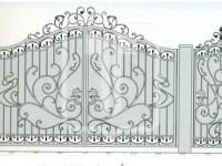 Кованые металлические ворота (Арт. 081)