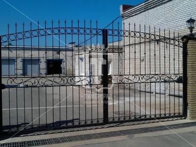 Прозрачные ворота с рядом ажурных деталей. (Арт. 042)
