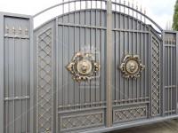 Металлические ворота со львами (Арт. 031)