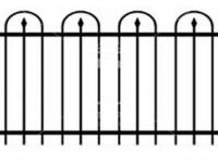 Эскиз ограждения с пиками в полукругах (Арт. 060)