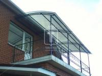 Широкий козырек для большого балкона (Арт. 051)