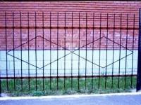 Металлический забор с ромбиками (Арт. 105)