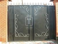 Строгие прямоугольные ворота с пиками и барашками (Арт. 049)