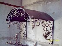 Кованый козырек со спиралями (Арт. 038)