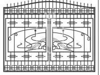 Кованые металлические ворота (Арт. 083)