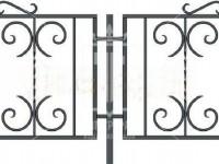 Эскиз низкого газонного ограждения с элементами в виде запятой (Арт. 068)