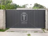 Откатные ворота из профлиста (Арт. 102)