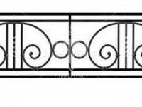 Эскиз ограждения с кольцами и торсировкой (Арт. 062)