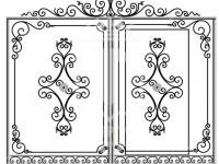 Кованые металлические ворота (Арт. 079)