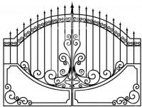 Кованые металлические ворота (Арт. 071)