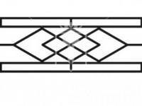 Эскиз ограждения с ромбиками в центральной части (Арт. 071)
