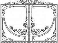 Кованые металлические ворота (Арт. 072)