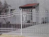 Легкие прозрачные распашные ворота с пиками. (Арт. 050)