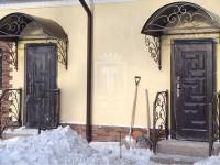 Козырек над дверью с ковкой (Арт. 030)