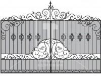 Кованые металлические ворота (Арт. 075)
