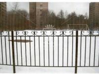 Металлический забор с барашками (Арт. 098)